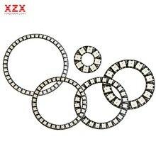 8/16/24/35/45 Leds WS2812B Pixel anneau adressable Modules Led DC5V WS2812 rvb cercle de Led ronde polychrome nouveau