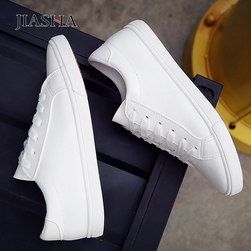 Women Shoes 2020 New Spring Lace-up White Shoes Woman PU Leather Solid Color Casual Female Shoes Women Sneakers Tenis Feminino
