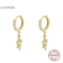 CANNER 925 Sterling Silver Earrings Snake Animal Wild Oorbel Diamant Earrings Je