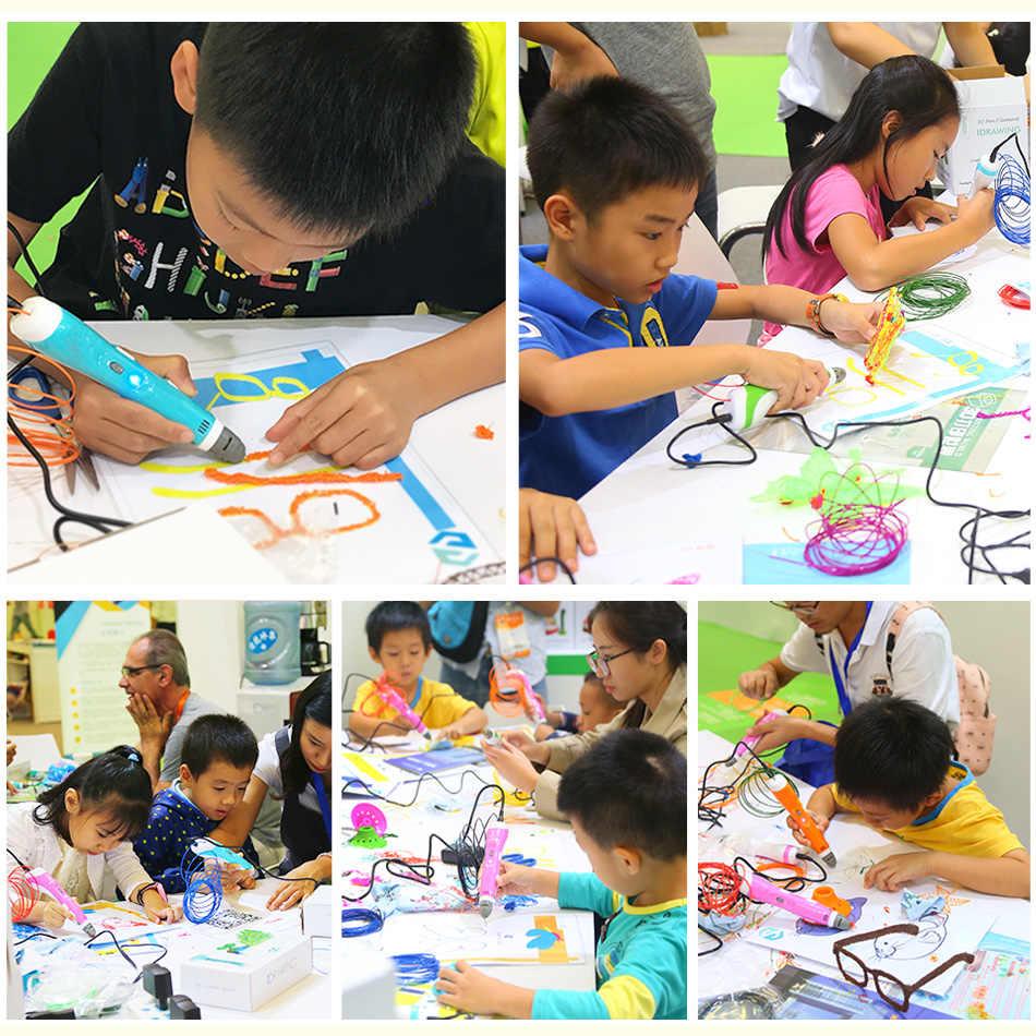 Afdrukken 3D Pen Verjaardag Pen Afdrukken Potlood Mais Vendidos Gift Pla Filament 3D Printing Pen Voor Kinderen Tekening Met Plastic