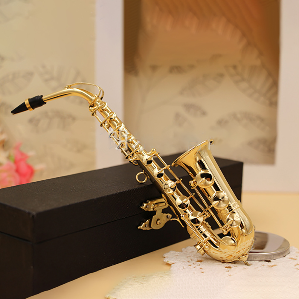 12/'/' Action Figure Copper Alto Saxophone Music Instrument Dollhouse Models