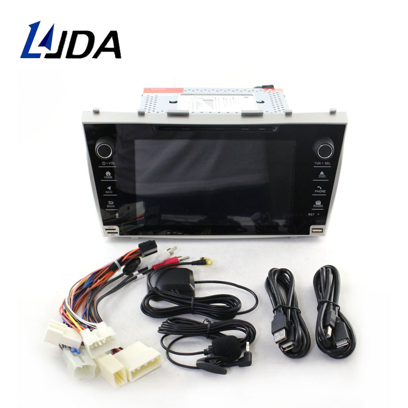 LJDA Android 9.0 2 Din Car Radio For Toyota Camry 2007 2008 2009 Car Multimedia Player Stereo Auto Audio GPS DVD Video WIFI IPS