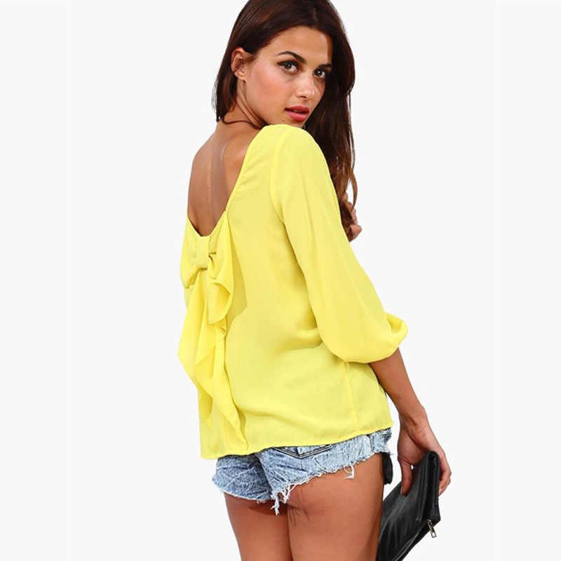 Женские топы больших размеров Zanzea хлопок и микрофибра простое сукно полная специальная цена Новинка 2019 Женский Большой размер 3xl сзади футболка