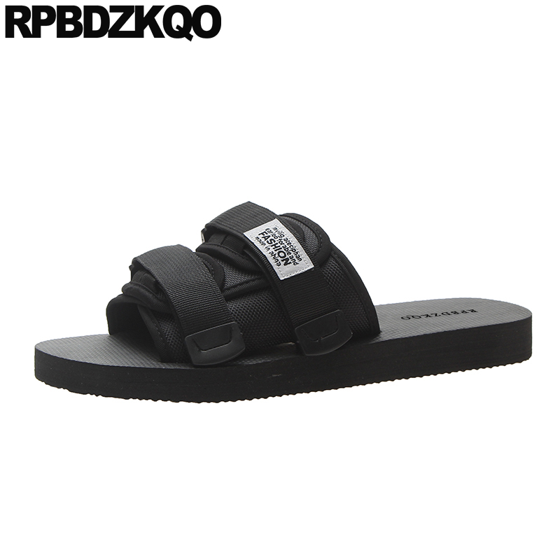 Big Size Black Casual Designer 45 Fashion Plus Mens Mesh Shoes Beach Slides Flat Outdoor 2019 Large Slippers Sandals Slip On