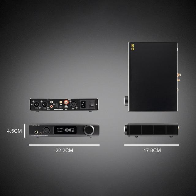 TOPPING DX7 Pro ES9038Pro DAC & Headphone amp Bluetooth 5.0 32BIT/768kHz DSD1024 DX7PRO Wireless Decoder Headphone Amplifier 5