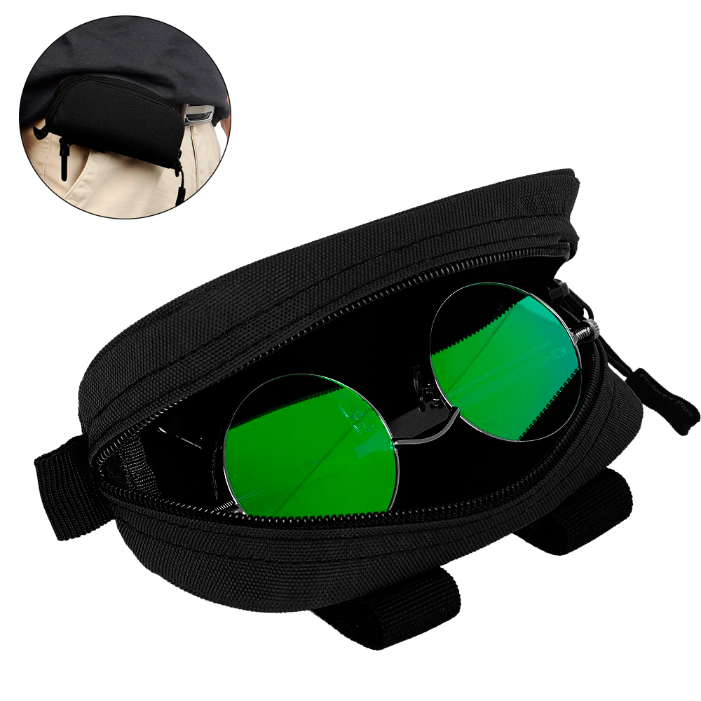 Tactical Molle Sunglasses Box Case Waterproof Camouflage Zipper Sunglasses Bag Waist Belt Glasses Pouch Pack For Outdoor Sports
