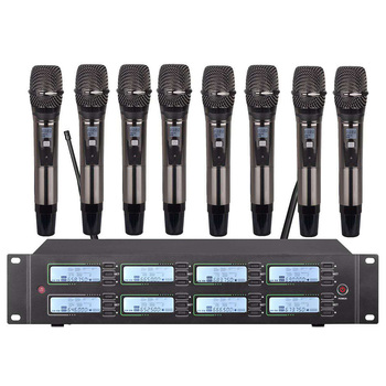 Professional UHF wireless microphone system handheld microphone for church school outdoor activity microphone wireless