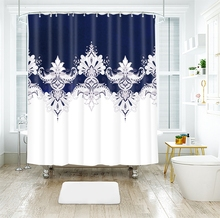 National style Flower Pattern Colorful Floral View Shower Curtains Waterproof Thickened Bath for Bathroom Customizable