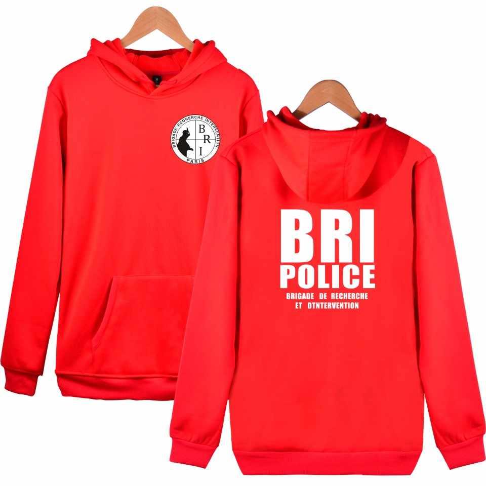 Moda BRI policía GIGN Gendarmerie sudaderas con capucha hombres/mujeres Casual Kpop niños con capucha ocio mujer Wenter Cap sudadera