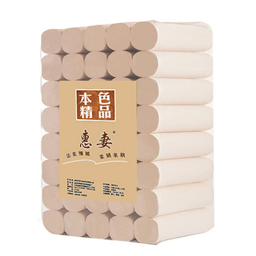 50 Rolls /pack 4 Layers Toilet Roll Paper Home Bath Toilet Roll Paper Primary Wood Pulp Toilet Paper Tissue Roll