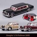 Предзаказ Kengfai 1:18 Pullman S600 жемчужная Шампанская Золотая/красная/Черная машина