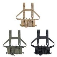 Bolsa de aparejo de pecho táctico, mazo de cables para Radio, pecho, frontal, chaleco militar, cintura ajustable, Radio bidireccional, bolsillo