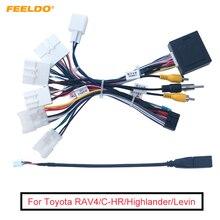 FEELDO รถ16 Pin Android สายไฟสายอะแดปเตอร์ Canbus สำหรับ Toyota Corolla/Camry/RAV4/มงกุฎ/Reiz
