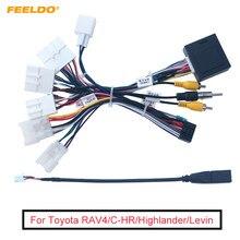 Feeldo carro 16-pin android fio chicote adaptador de cabo de alimentação com canbus para toyota corolla/camry/rav4/coroa/reiz
