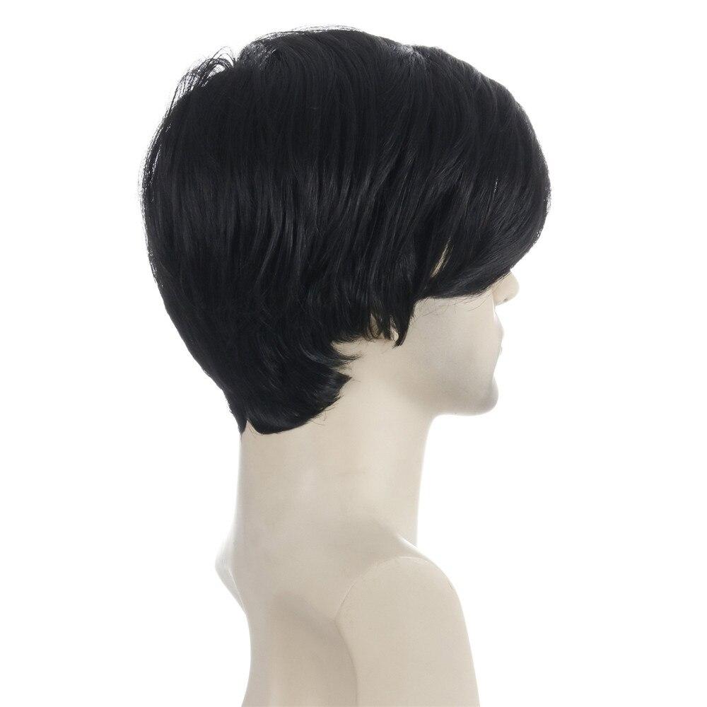 peruca masculina curta natureza peruca sintetica preta 04