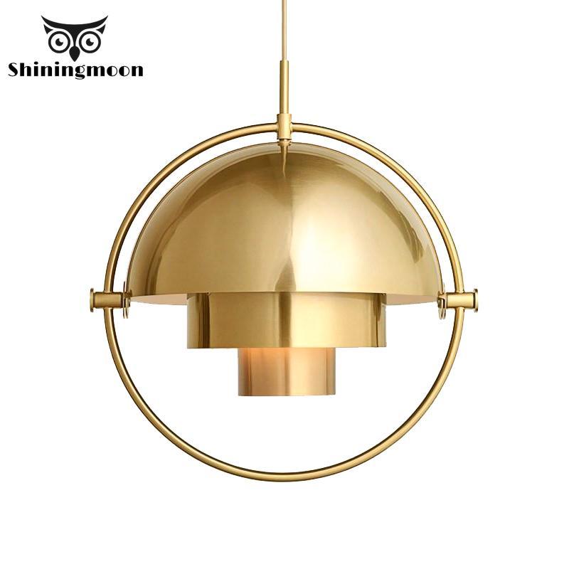 Modern Iron LED Pendant Lights Creative Restaurant Art Pendant Lamp Gold Semicircle Decor Hanging Lamp Bedroom Bedside Hanglamp