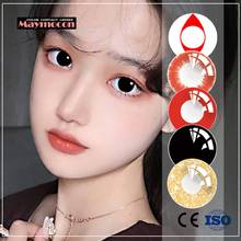 Cosplay Contact-Lens Cosmetic Halloween Color Yearly 2pcs/pair Soft Maymocon