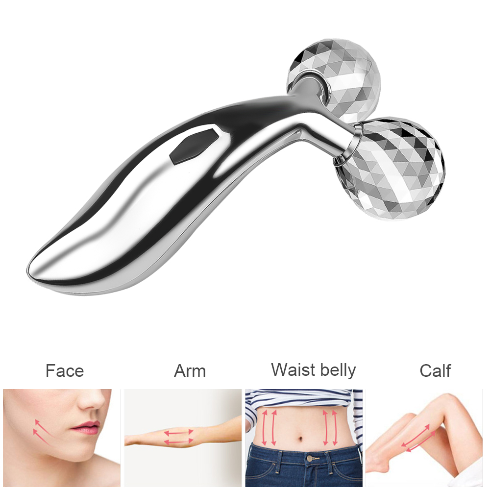 3D Face Massage Relaxation Tools Roller Massager Thin 360 Degree Rotation Facial Wrinkle Remover Face Skin Care New