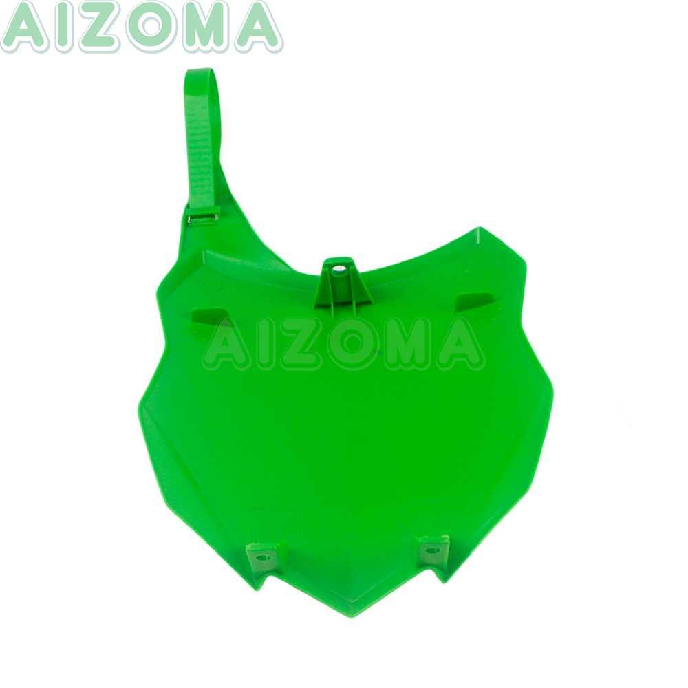 1 個グリーンオフロードモトクロス PP プラスチックフロントナンバープレートカワサキ KXF450 KXF250 KX 250/450 F 2013 -2014 2015 2016