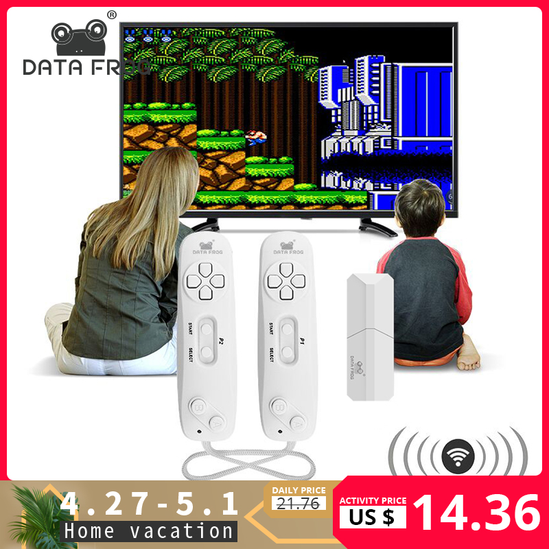 DATA FROG Wireless Handheld Game Player Build In 620 Classic 8 Bit Games Support TV OutPut Game Console With Dual Gamepad|Handheld Game Players|   - title=