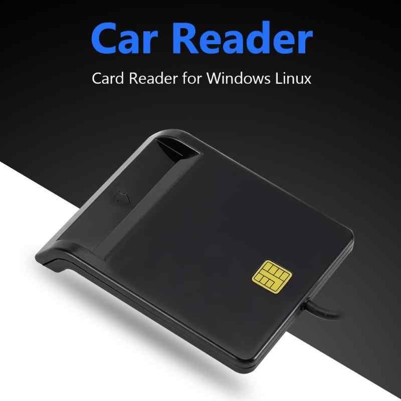 VKTECH כרטיס קורא נייד USB 2.0 כרטיס חכם קורא DNIE כספומט CAC IC מזהה בנק כרטיס ה-SIM כרטיס Cloner מחבר עבור Windows לינוקס