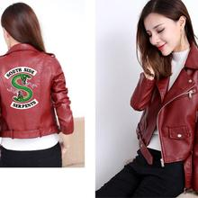 2019 New Riverdale Women PU Leather Jacket Fashion America Kpop Motorcycle