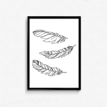 Wall Art Canvas Painting Modern Feather Print Poster Stylish simplicity Office Home Apartment Decor my apartment