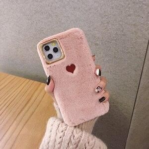 Image 2 - 2019 מכירה לוהטת מוגבל מהדורה מוצק צבע זוג אהבת קטיפה רך סיליקון טלפון סלולרי מקרה עבור Iphone 11 מקרה מרגיש נוח