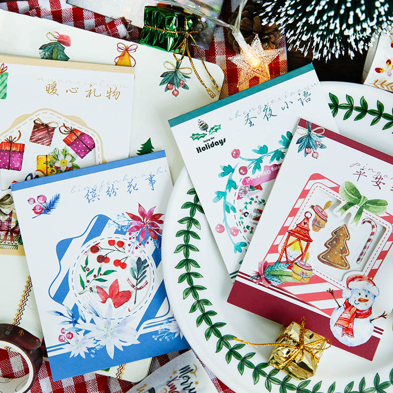 40Pcs Kawaii Christmas Stickers Cute Stationery Stickers Decorative Stickers For Kids DIY Diary Scrapbooking Supplies