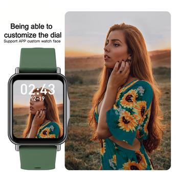LYKRY Q15 Smart Watch Smartwatch Women 1.69 inch Screen 22MM DIY Watch Face Long Battery Blood Presure Men's Watches PK P8 PLUS 4