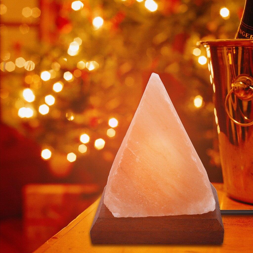 RED USB Himalayan Pink Salt Lamp Light Colour Bulb Mini Natural Rock Crystal