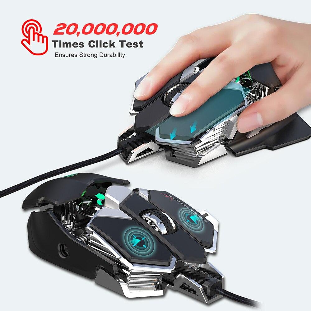 Image 5 - RGB игровая мышь 6400 DPI высокоточная Проводная USB компьютерная мышь Mause геймер 9 клавиш программируемые макросы определение игровой мыши мышьМыши    АлиЭкспресс