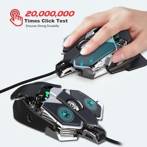 Image 5 - RGB Gaming Maus 6400 DPI Hohe Präzision Verdrahtete USB Computer Mause Maus Gamer 9 Tasten Programmierbare Makros Definieren Spiel Mäuse maus