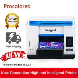 Procolored 2021 UV Printer A3 Print for Glass Phone Case Wood Metal Bottle Multifunction LED Digital UV Flatbed Printing Machine