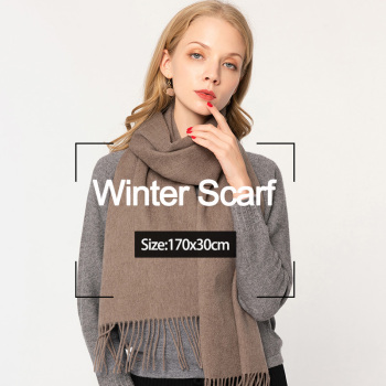 Winter Wool Scarf Women 2020 Luxury Shawls and Wraps for Ladies Pashmina Tassel Warm Cashmere Scarf Foulard Femme 170x30cm woman winter wool scarf blanket plaid oversize wraps with tassel ladies soft warm pashmina foulard femme big blanket scarves