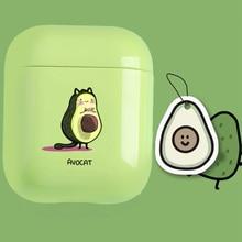 Cute Case For Apple airpods Cartoon Funny Avocado Bluetooth Earphone Airpods 1 2 Charging Bags Headphone Hard