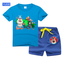 T Shirt Sets 2021 Summer Toddler Boys Kids Clothes Short Sleeve T-shirt + Shorts 2 Piece Set Baby Boys Girls Clothing Sets