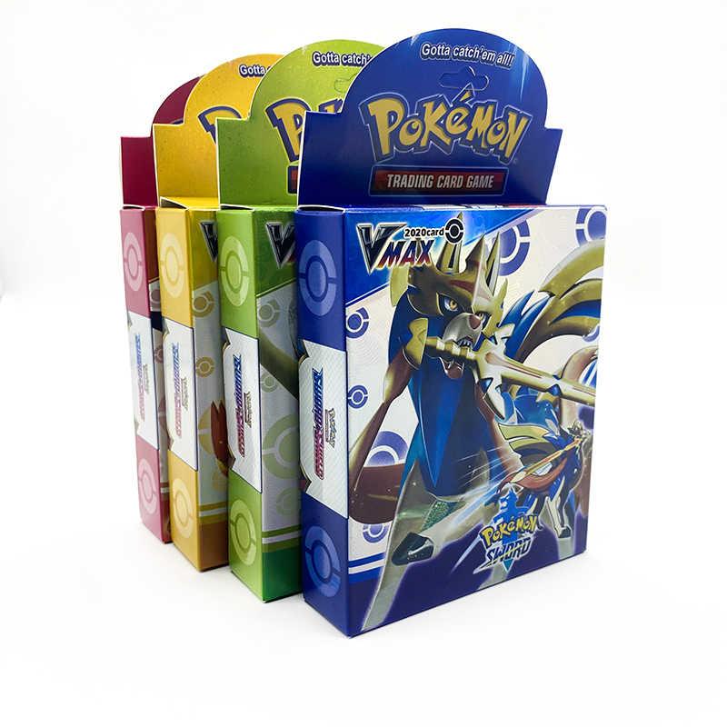 بوكيمون لعبة ببطاقات ورقية السيف درع جمع صندوق لامع GX بطاقة التعليمية الطاقة المدرب العلامة فريق 100 قطعة بطاقات جمع