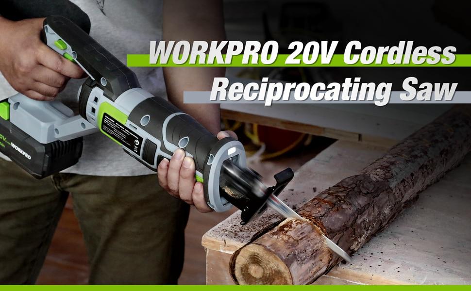 WORKPRO 20V Cordless Reciprocating