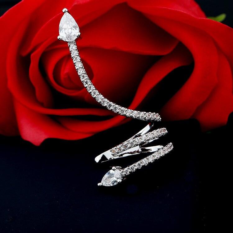 ear clip Korean personality simple nail female trendy snake earring jewelry cuff  charm rhinestone stud earrings