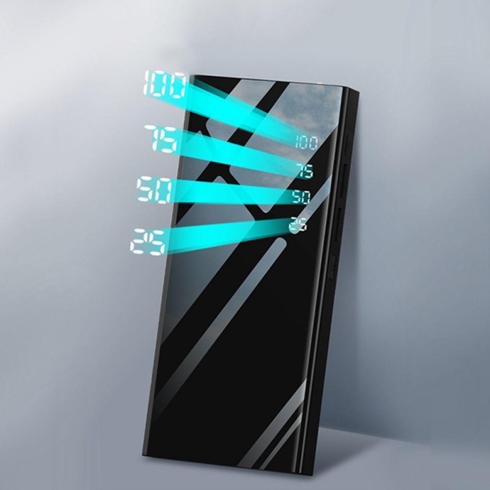 Mi rror 30000 мАч, внешний аккумулятор, ЖК-дисплей, портативное зарядное устройство для мобильного телефона, внешний аккумулятор для Xiaomi mi iPhone X ...
