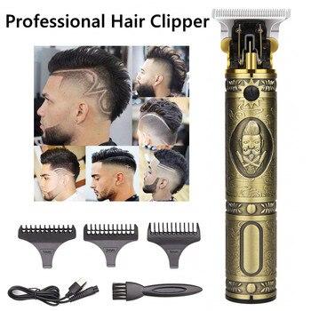 цена на Close-cutting Hair Clipper Electric Professional T9 Beard Trimmer Men Barber Men Hair Cut 0mm razor shaver Hairdresser Machine