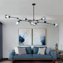 Nordic Industrial LED Ceiling Lights Glass Ceiling Lamp Dining room Restaurant Hanging Lamp Living Room Lamp Kitchen Cafe цена