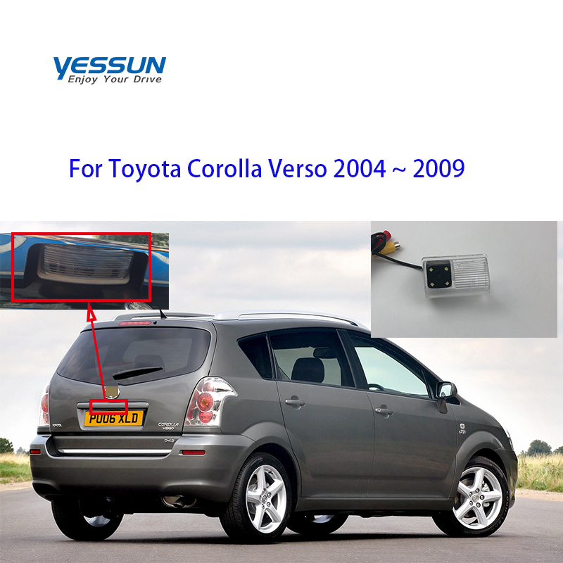 Yessun175 Fisheye Rear View Camera For Toyota Corolla Verso 2004 2005 2006 2007 2008 2009 Backup Camera/license Plate Camera