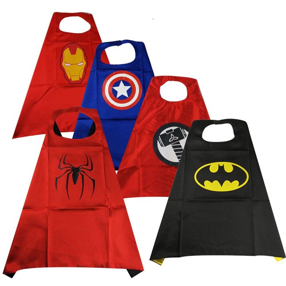 Infinity Avengers Superheroes Cosplay Cloak And Mask Spiderman Captain America Ironman Batman Cosplay Costumes Light Mask