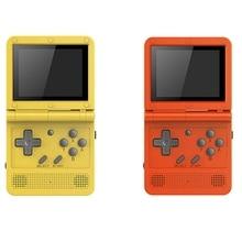 Powkiddy V90 Portable 3 pouces IPS Sn Flip 3D Console de jeu double système ouvert 15 simulateurs 16G PS1 enfants cadeau