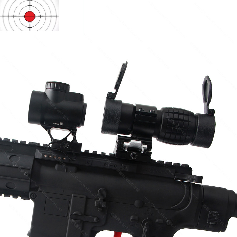 Airsoft Tactical 3x magnifier Riflescope 3X30mm Magnifying Scope Focus Adjusted With Flip Up Mount For Hunting CS Game