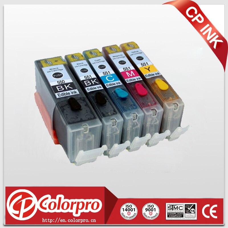 5PK PGI550 CLI551 картридж со съедобными чернилами для принтера Canon PIXMA IP7250 MG5450 MG5550 MG5650 MG6450 MG6650 для Canon PGI 550 PGI550XL