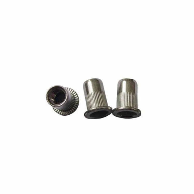 304 paslanmaz çelik perçin somun somun perçin çekme kapağı karbon çelik düz kafa dikey şerit somun perçin m3-m12