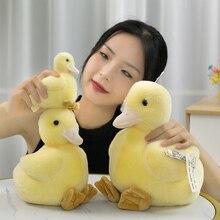 Реалистичная желтая утка, плюшевая игрушка, искусственное животное, подарок, 12 см, коллекционная кукла, имитация куклы-Кротов